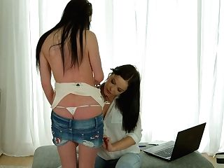 Svelte Raven Haired Dolly Diore Is Just Fantastic Vulva Taunting...