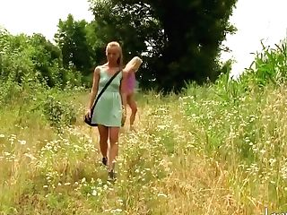 Daringsex Lesbos Box Gets Toyed In The Bushes