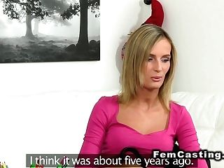 Blonde Frigs Agent In Xmas Casting