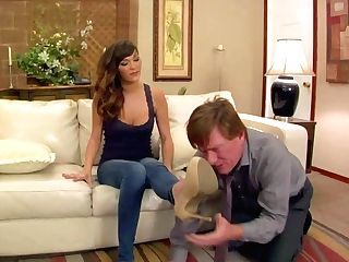 Man Gets Foot Fucked By Holly Michaels